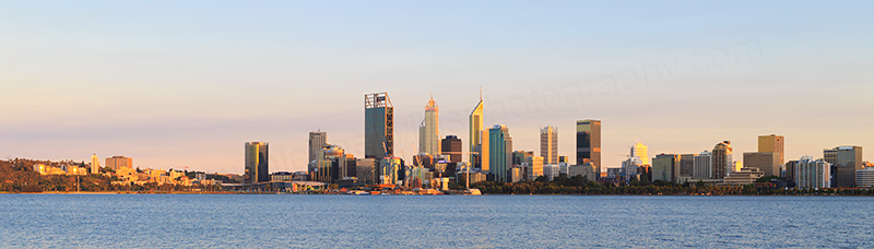 Perth and the Swan River at Sunrise, 6th November 2017