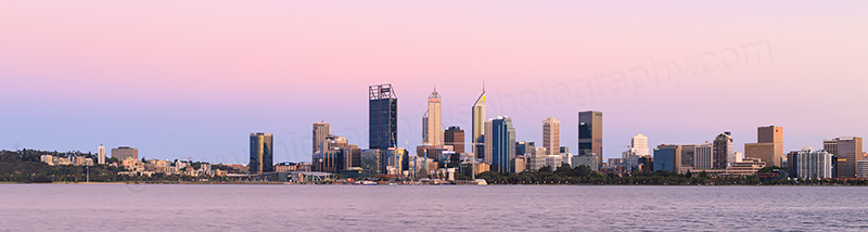 Perth and the Swan River at Sunrise, 7th November 2017