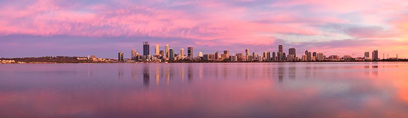 Perth and the Swan River at Sunrise, 8th November 2017