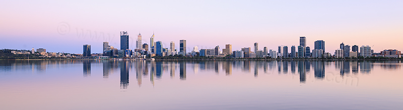 Perth and the Swan River at Sunrise, 9th November 2017