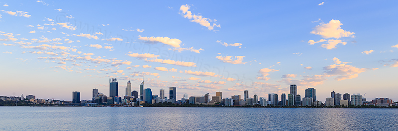 Perth and the Swan River at Sunrise, 12th November 2017