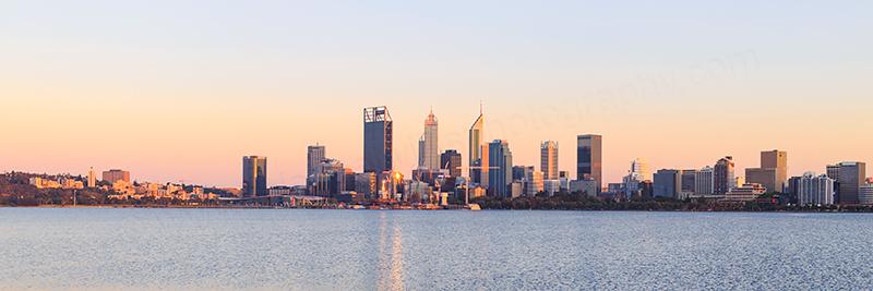 Perth and the Swan River at Sunrise, 13th November 2017