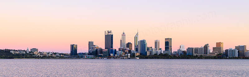 Perth and the Swan River at Sunrise, 14th November 2017