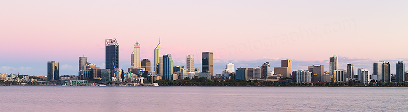Perth and the Swan River at Sunrise, 15th November 2017