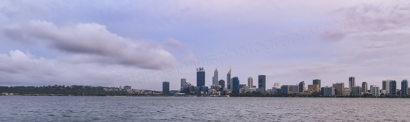 Perth and the Swan River at Sunrise, 17th November 2017