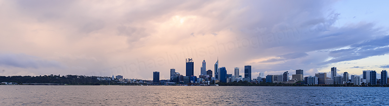 Perth and the Swan River at Sunrise, 18th November 2017