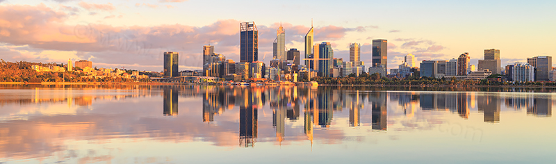 Perth and the Swan River at Sunrise, 20th November 2017