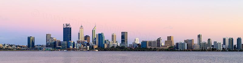Perth and the Swan River at Sunrise, 21st November 2017
