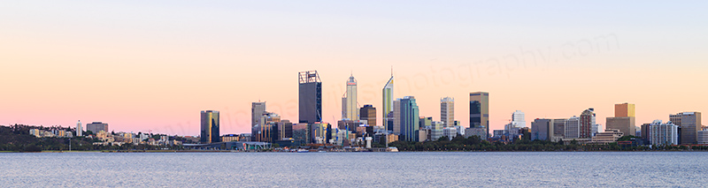 Perth and the Swan River at Sunrise, 22nd November 2017