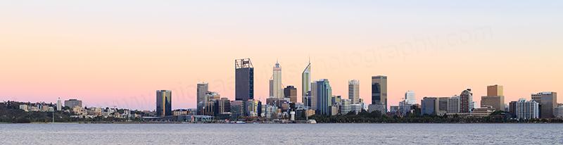 Perth and the Swan River at Sunrise, 23rd November 2017