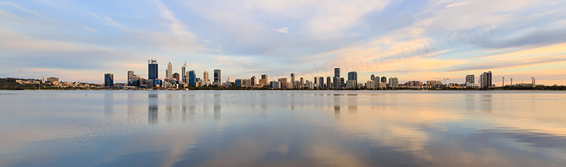 Perth and the Swan River at Sunrise, 24th November 2017