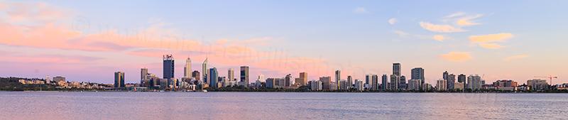 Perth and the Swan River at Sunrise, 26th November 2017