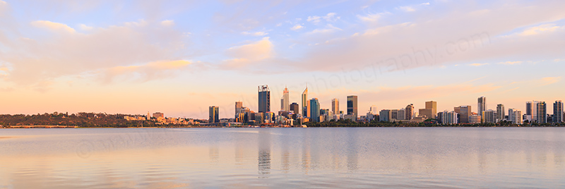 Perth and the Swan River at Sunrise, 27th November 2017