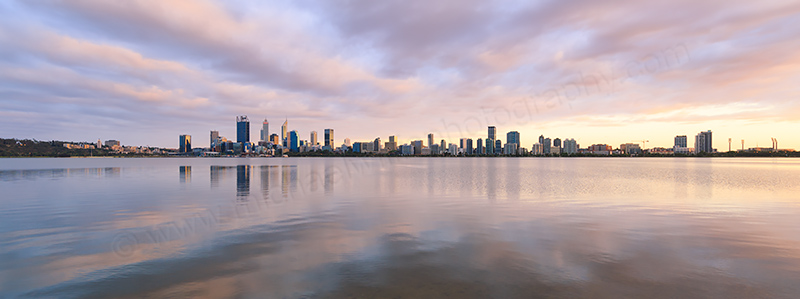 Perth and the Swan River at Sunrise, 30th November 2017