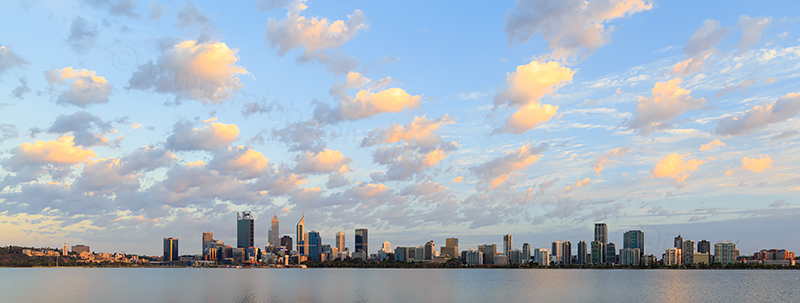 Perth and the Swan River at Sunrise, 10th January 2018