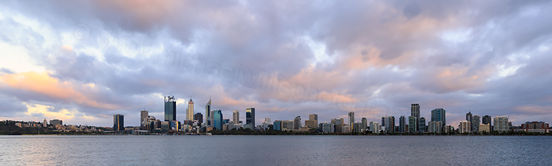Perth and the Swan River at Sunrise, 11th January 2018