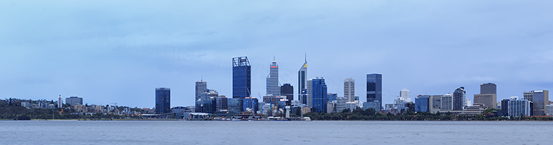 Perth and the Swan River at Sunrise, 15th January 2018