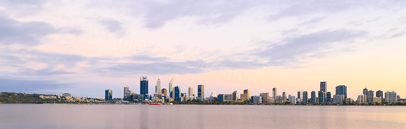 Perth and the Swan River at Sunrise, 28th January 2018
