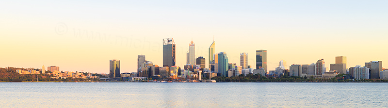 Perth and the Swan River at Sunrise, 1st February 2018