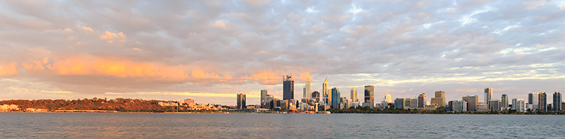 Perth and the Swan River at Sunrise, 3rd February 2018