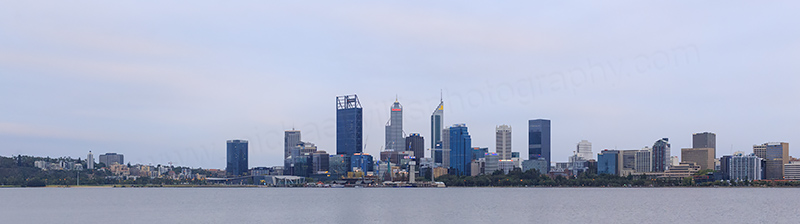 Perth and the Swan River at Sunrise, 7th February 2018