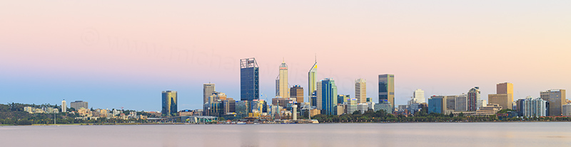 Perth and the Swan River at Sunrise, 8th February 2018