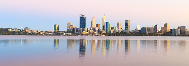 Perth and the Swan River at Sunrise, 15th February 2018