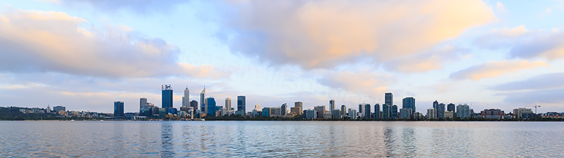 Perth and the Swan River at Sunrise, 17th February 2018