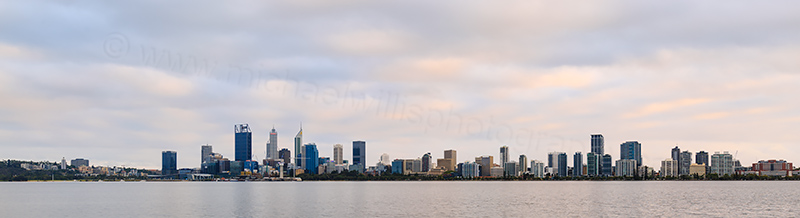 Perth and the Swan River at Sunrise, 18th February 2018