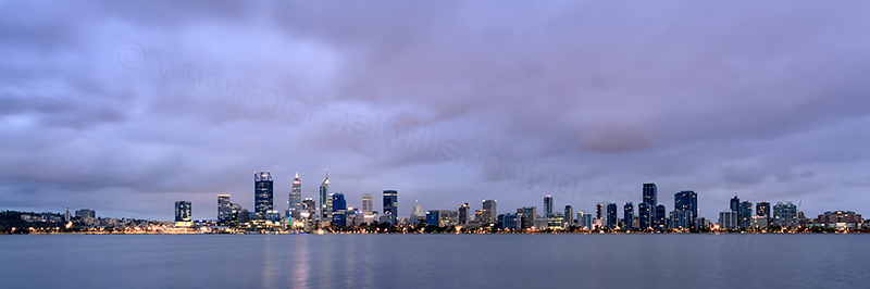 Perth and the Swan River at Sunrise, 19th February 2018