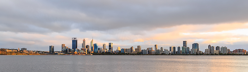 Perth and the Swan River at Sunrise, 20th February 2018