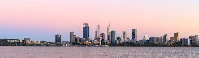 Perth and the Swan River at Sunrise, 22nd February 2018