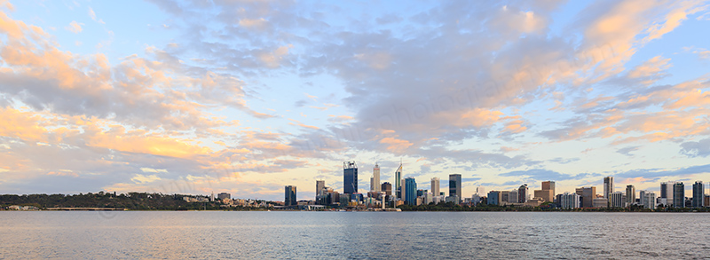 Perth and the Swan River at Sunrise, 25th February 2018