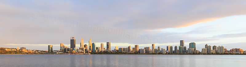 Perth and the Swan River at Sunrise, 27th February 2018