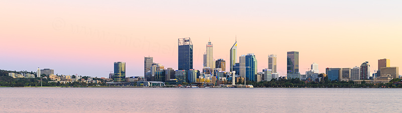 Perth and the Swan River at Sunrise, 28th February 2018