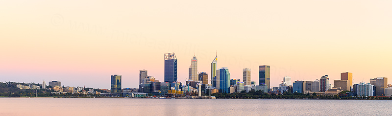 Perth and the Swan River at Sunrise, 2nd March 2018