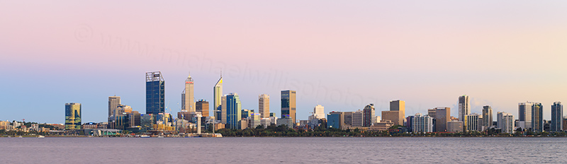 Perth and the Swan River at Sunrise, 5th March 2018