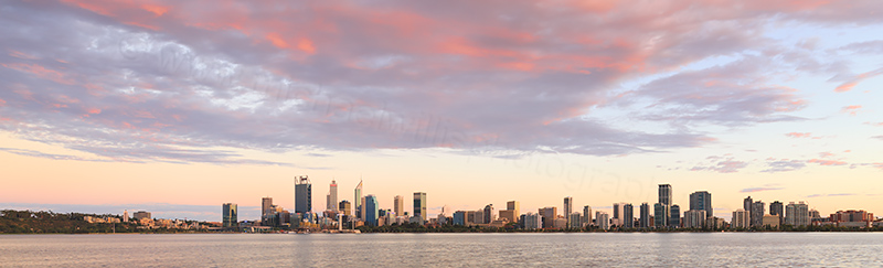 Perth and the Swan River at Sunrise, 6th March 2018