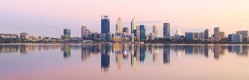 Perth and the Swan River at Sunrise, 8th March 2018