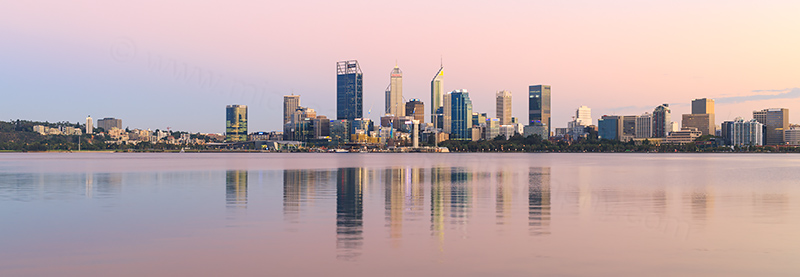 Perth and the Swan River at Sunrise, 9th March 2018