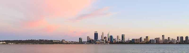 Perth and the Swan River at Sunrise, 11th March 2018