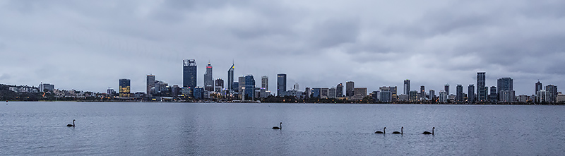 Perth and the Swan River at Sunrise, 15th March 2018