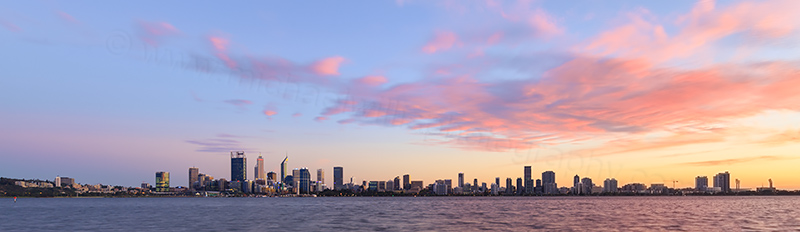 Perth and the Swan River at Sunrise, 20th March 2018
