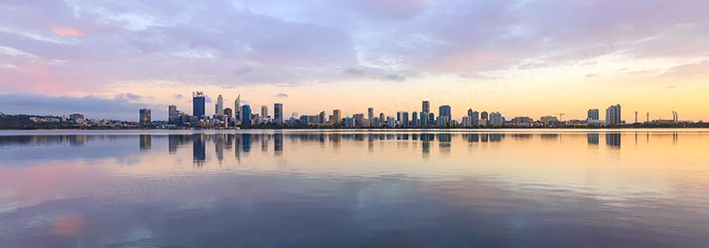 Perth and the Swan River at Sunrise, 22nd March 2018