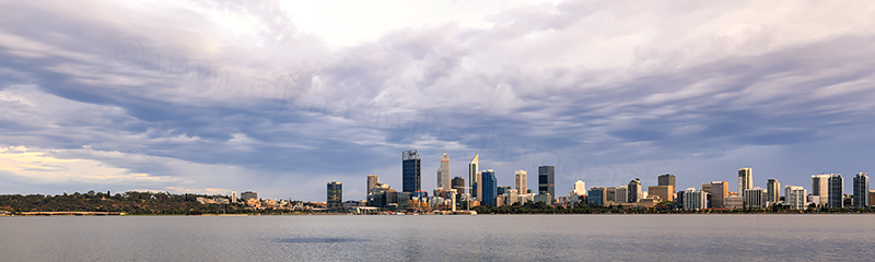 Perth and the Swan River at Sunrise, 24th March 2018