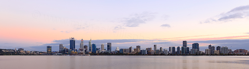 Perth and the Swan River at Sunrise, 27th March 2018