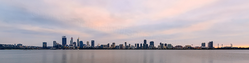 Perth and the Swan River at Sunrise, 31st March 2018