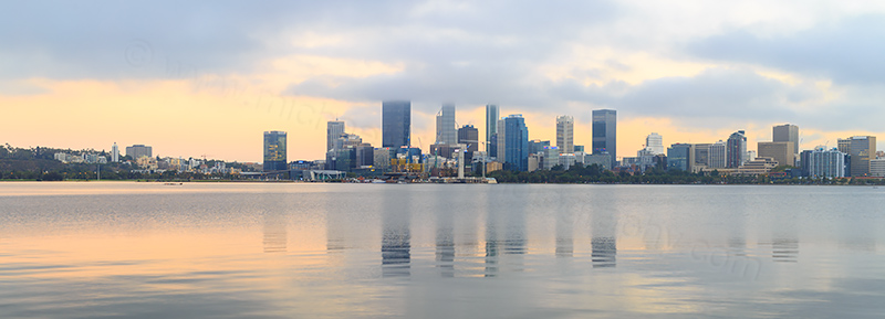 Perth and the Swan River at Sunrise, 4th April 2018