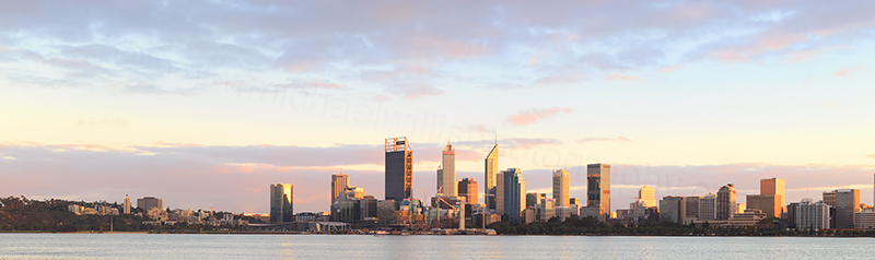 Perth and the Swan River at Sunrise, 11th April 2018