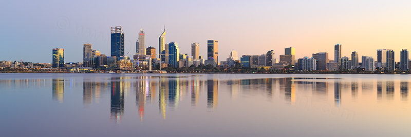 Perth and the Swan River at Sunrise, 14th April 2018